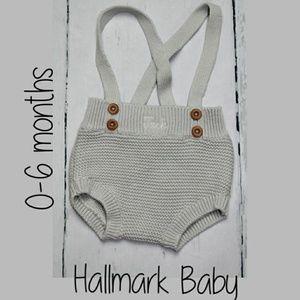 Hallmark Baby Grey Personalized Knit Shortalls